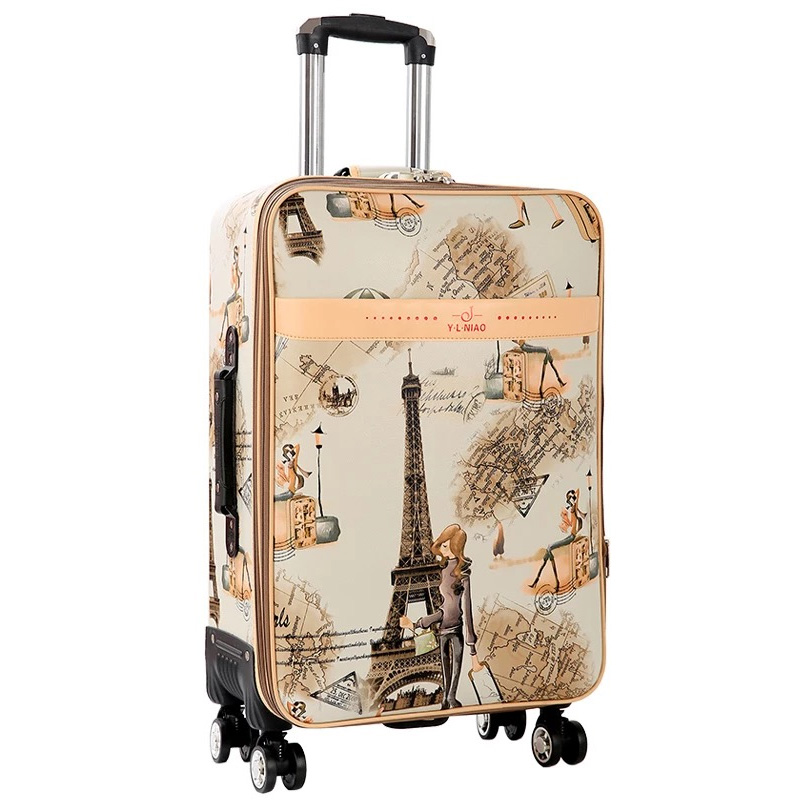 GraspDream 24 carry on Suitcase with wheels Girl and kids cartoon pictures luggage travel bag trolley