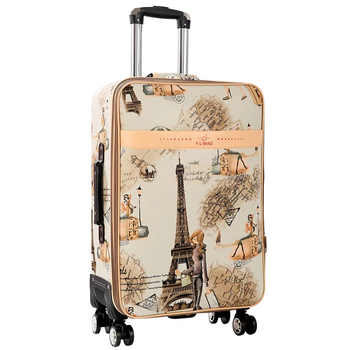 GraspDream 24 carry-on Suitcase with wheels Girl and kids cartoon pictures luggage travel bag trolley bags children\'s suitcases - DISCOUNT ITEM  7 OFF Luggage & Bags
