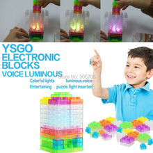 Voice luminous sound controlled rhythm electronic blocks DIY Kits Integrated circuit building blocks snap circuit model toys