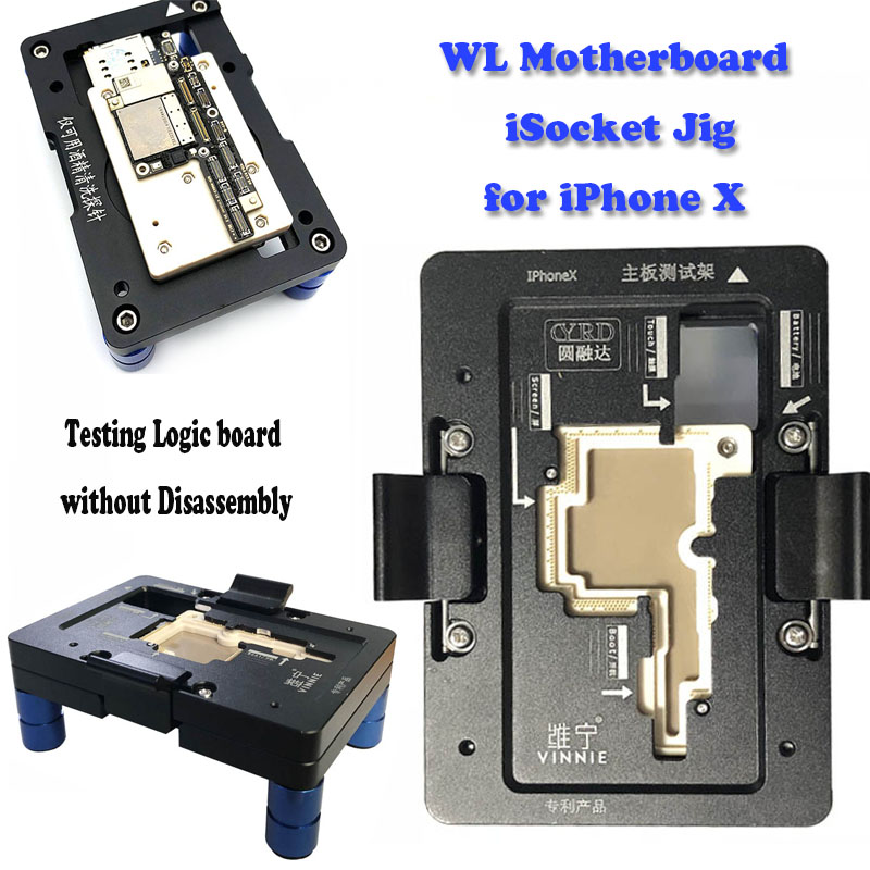 WL iSocket Jig for iPhone X PCB Motherboard Test Holder Fast Folded Two Halves Logic Board Testing Fixture Without Disassembly - 2