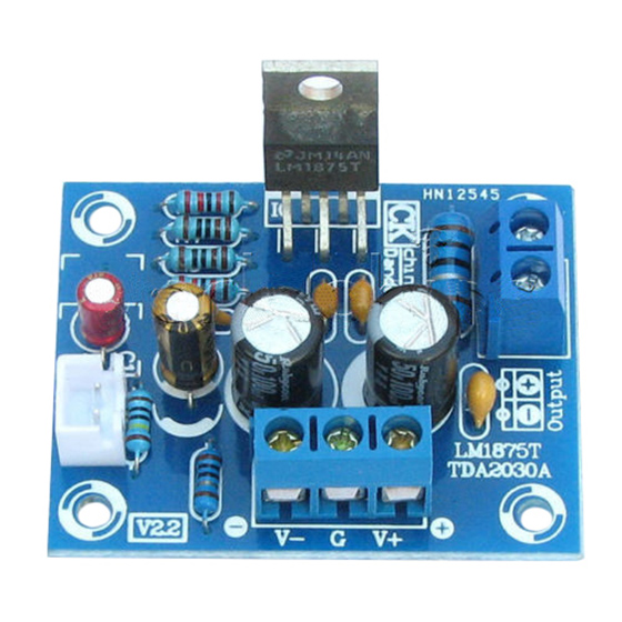20W <font><b>LM1875T</b></font> Mono Channel <font><b>Stereo</b></font> <font><b>Audio</b></font> HIFI <font><b>Amplifier</b></font> Board Module <font><b>DIY</b></font> <font><b>Kit</b></font> image