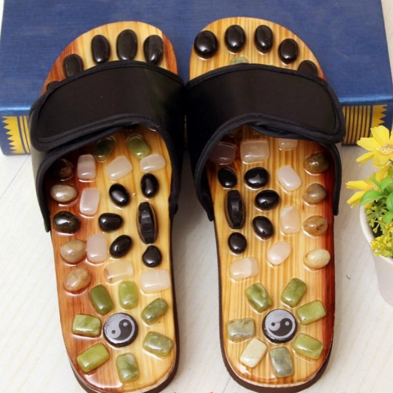 2019 Massage Slipper Shoes Unisex Cobblestone Slipper Acupoint Healthcare Slipper Men&Women Health Accupressure Foot Slippers