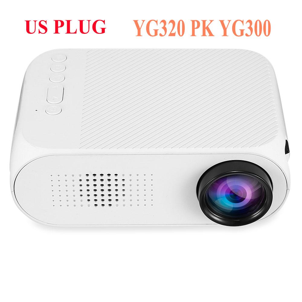 Yg310 Lcd Projector 600lm 320 X 240 1080p Mini Portable Hd: Original YG 320 YG320 LED Portable Projector 600LM 3.5mm