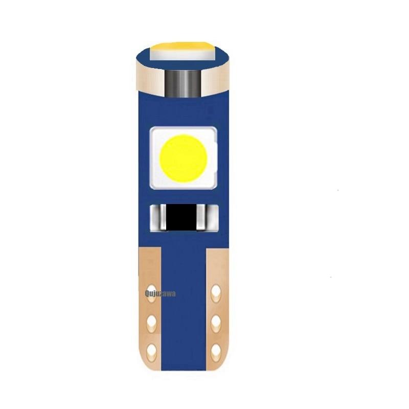 1 шт. W3W W1.2W T5 супер яркий 3 SMD 3030 светодиодный лампочка автомобильная доска приборная панель лампа авто приборная панель индикатор потепления...