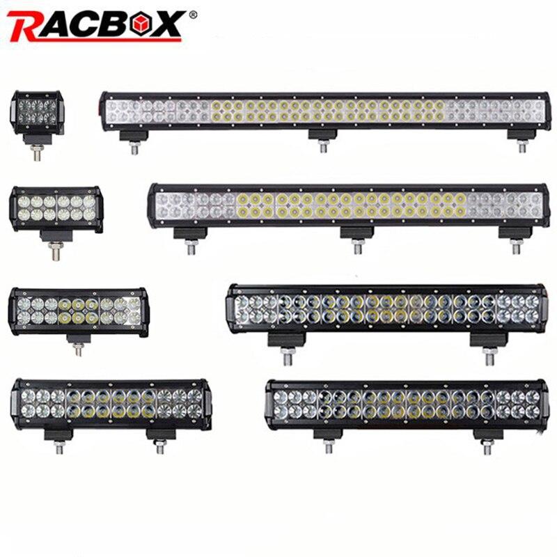 4 7 12 17 20 28 36 inch Offroad LED Bar Headlight Light Bar Foglight Combo