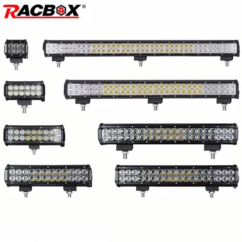 4 7 12 17 20 28 36 pulgadas Offroad LED Faro de barra de luz antiniebla haz Combo para 4x4 4 UAZ ATV camión SUV 12 V 24 V LED luz de trabajo