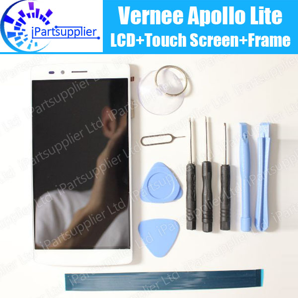 Vernee Apollo Lite LCD Display Touch Screen Digitizer Frame Assembly 100 Original LCD Touch Digitizer for