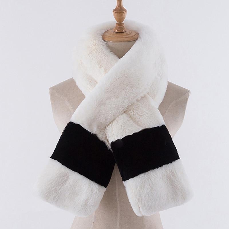 2018 imitation fur scarf warm autumn and winter female girls imitation fur rabbit collar long warm fashion scarf FPC-252 romantic rose embellished silky long scarf