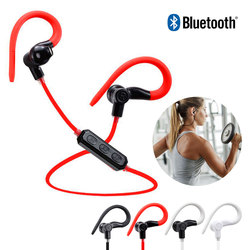 Sports Stereo Music Bluetooth Headset with Inline Control Mini Portable Ear Hook Wireless Earphone for xiaomi with Mic Earpieces