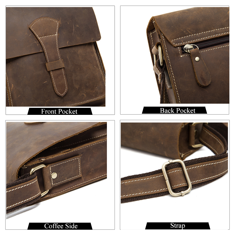 WESTAL Messenger τσάντα άνδρες δερμάτινα Vintage - Τσάντες - Φωτογραφία 4