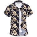 DropshipNew Highfashion Летние Цветочные Короткий Рукав Рубашки, мужские Плюс Размер М-6xl Slim Fit Повседневные Рубашки, размер 6xl = 4xl, g456