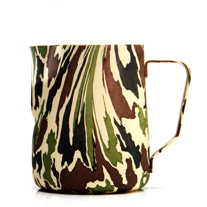 New Camouflage Style Milk frothing jug Espresso Coffee Pitcher Barista Craft Coffee Latte Stainless Steel Espresso MugsNew Camouflage Style Milk frothing jug Espresso Coffee Pitcher Barista Craft Coffee Latte Stainless Steel Espresso Mugs