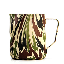 New Camouflage Style Milk frothing jug Espresso Coffee Pitcher Barista Craft Latte Stainless Steel Mugs