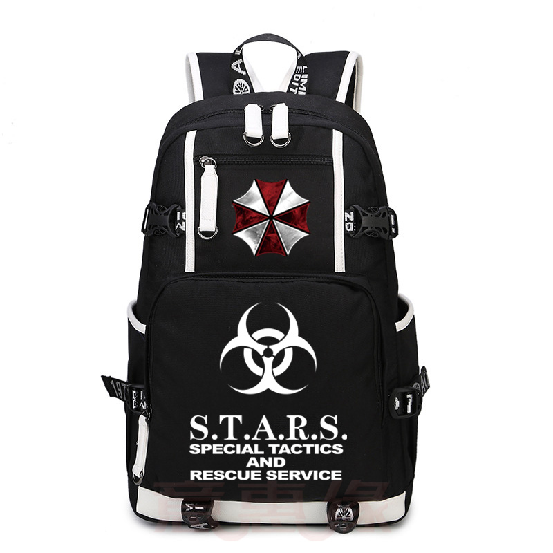 Anime Resident Evil Cosplay Backpack Anime umbrella Canvas Bag Luminous Schoolbag Travel Bags все цены