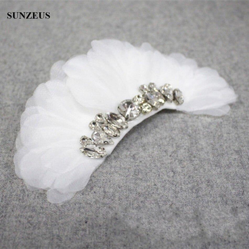 Ручной работы лепестки слоновой кости свадебные расческа для волос со стразами головные уборы Свадебные аксессуары SQ0196