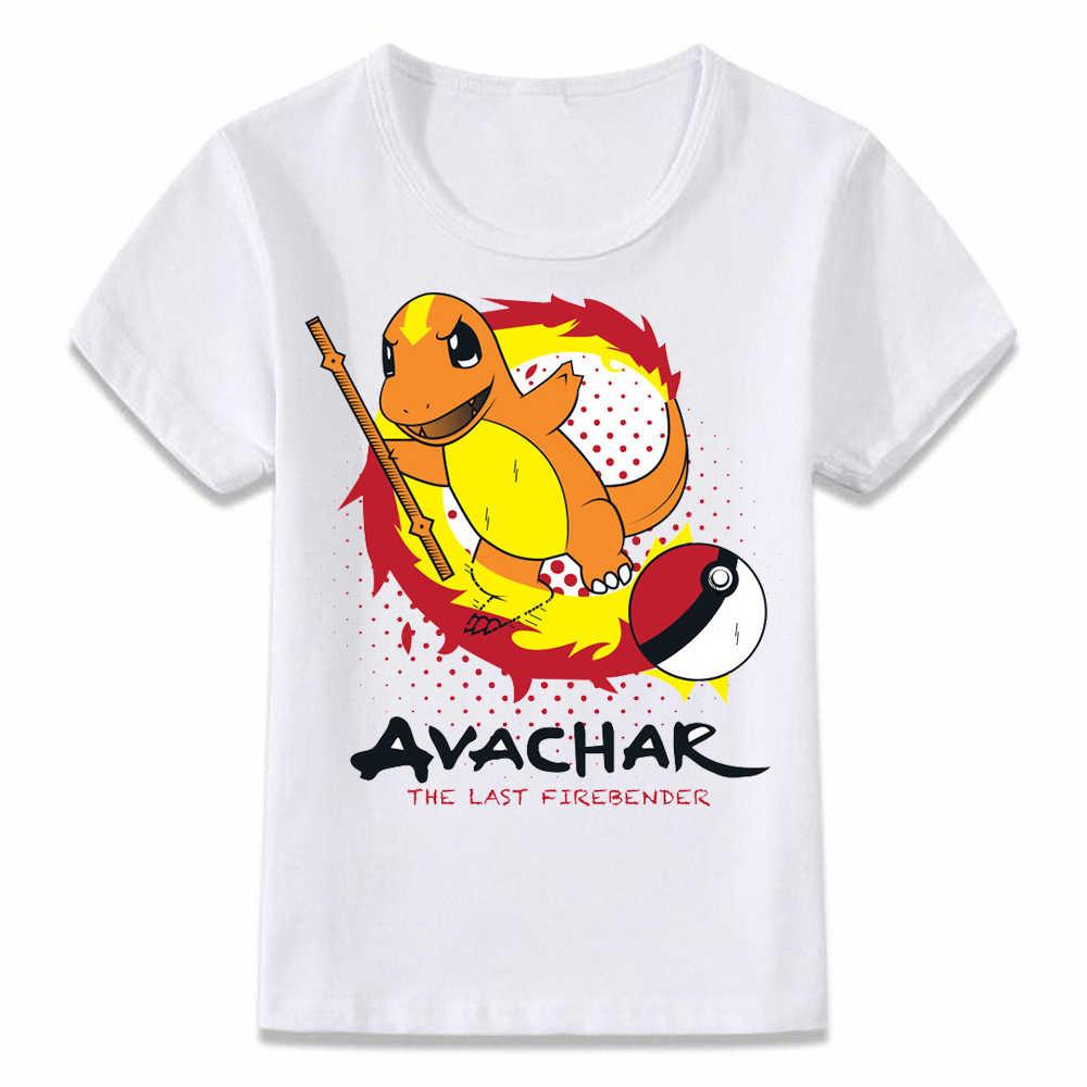 275a0427 Kids T Shirt The Last Airbender Pokemon Charmander Pikachu Aang T-shirt  Boys and Girls