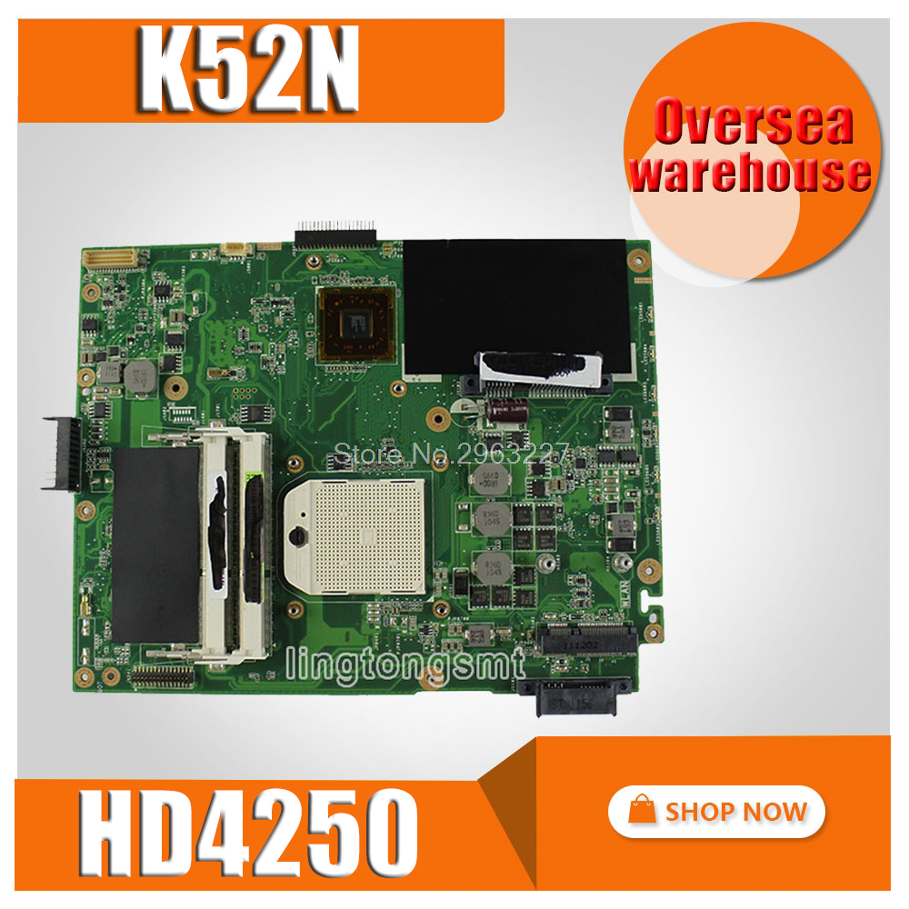 K52N Motherboard HD4250 REV2.1 For ASUS A52N K52N X52N Laptop Motherboard K52N Mainboard K52N Motherboard Test 100% OK