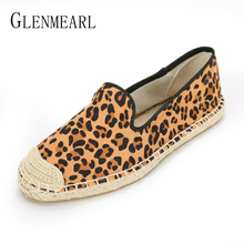 все цены на Women Flats Shoes Loafers Casual Leopard Spring Summer Colorful Round Toe Fisherman Shoes Flat Woman Sneakers Plus Size DE онлайн