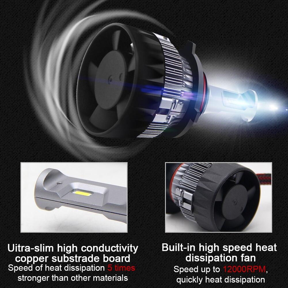 Image 5 - BraveWay CSP Chip Headlight Bulbs H4 H7 H8 H9 H11 LED Lamps for Car 12V 9005 HB3 9006 HB4 9012 HIR2 H4 Led Bulbs for Motorcycle-in Car Headlight Bulbs(LED) from Automobiles & Motorcycles