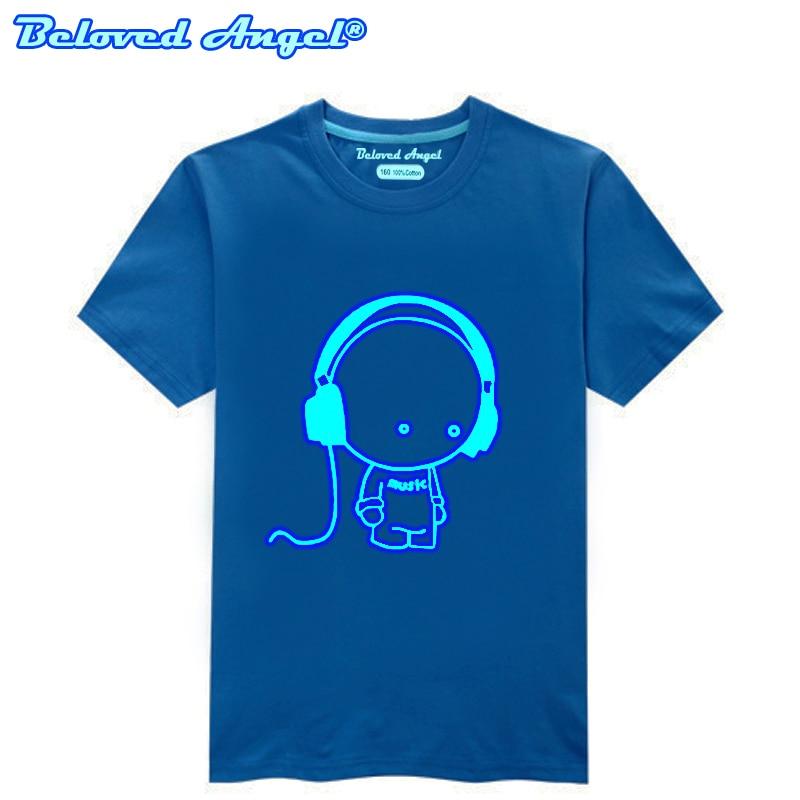 Children Clothing T-Shirt For Boys Fashion T Shirt Teen Girl Luminous Cotton Tops Teenage Boy Glow In Dark Kids Clothes Tshirts