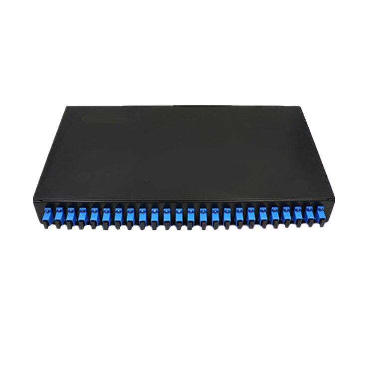 24 Port Fiber Patch Panel SC FC LC Pigtail ODF 1U Optical Fiber Terminal Box Optical Fiber Distribution Frame