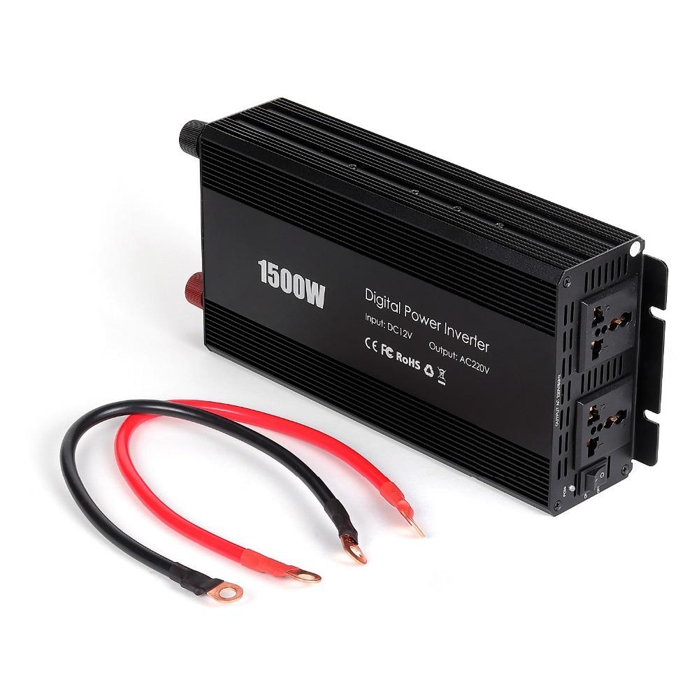 Car Inverters Charge 1500W 50Hz DC 12V to AC 110V/220V Peak Modified Sine Wave Car Power Inverter Charger Converter