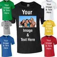 MEN Women Coloured Photo T Shirt Personalised T Shirt Printed T Shirt Printing Birthday Gift US