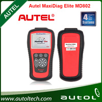 Top 2016 Newest Original Price Autel Maxidiag Elite MD802 scanner for 4 systems (MD701+MD702+MD703+MD704) Update Online DHL Ship
