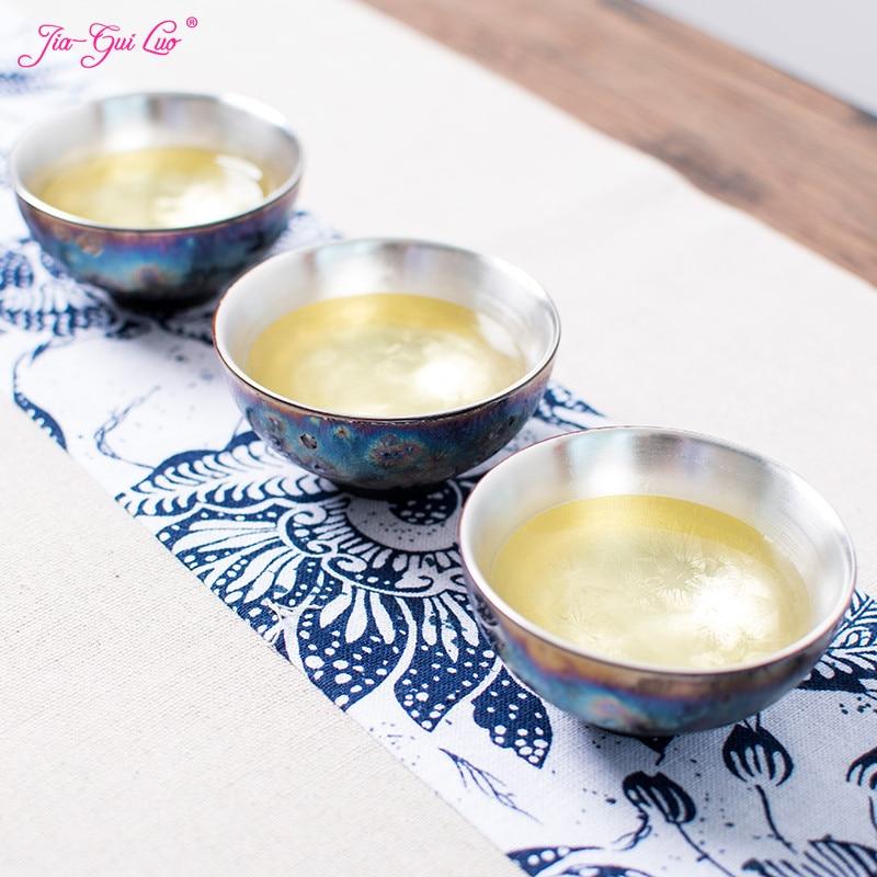 Chinese Porcelain Gaiwan China Jingdezhen Bowl 50ml 925 Fine Silver teapot Master Dragon Teacup Tea Set Gift Package