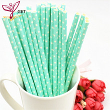 25PCS Colored Stripe Dot Paper Straws Christmas/Birthday/Wedding Decorative Party Supplies Event Supplies Paper Drinking Straws цена