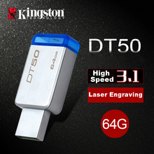 Kingston USB Flash Drive USB 3.0 Pendrive 64GB USB 3.1 Flash Memoria Metal Pen Drive Memory Stick cle usb 64gb Pendrive U Disk