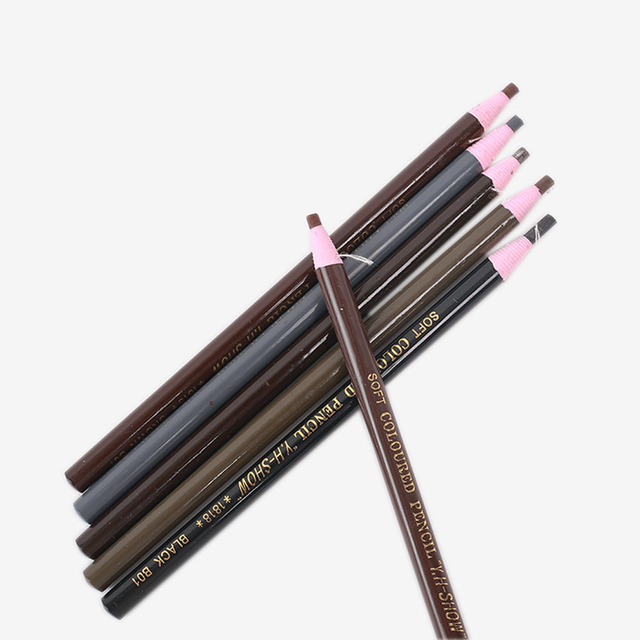 1PCS Waterproof Eyebrow Pencil Free Cutting Natural Long Lasting Paint Black Brown Coffee Microblading Permanent Eyebrow Make Up 3