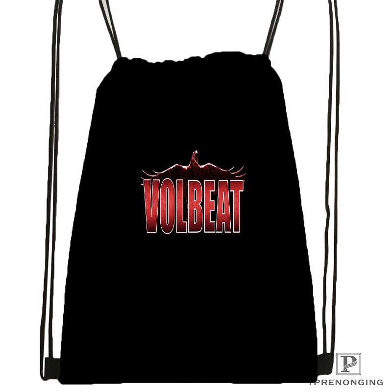 Custom Volbeat Guitar Gangsters Drawstring Backpack Bag Cute Daypack Kids Satchel Black Back 31x40cm 180531 04