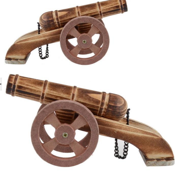 1pc / pack ბავშვთა ხის დიდი იარაღი ჭავლი გარე სათამაშოებისთვის / საბავშვო ხის საარტილერიო / სასაწყობო სათამაშოები ბიჭების საჩუქრებისთვის, უფასო გადაზიდვა