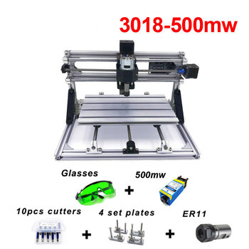 CNC3018 Diy Mini 500mw Laser Engraving Machine Wood Routers Carving Machine Laser Cutting PCB Milling Router Machines Russian 15w engraving machine cnc3018 pro er11 with 500mw 2500mw 5500mw head wood router pcb milling machine wood carving machine diy