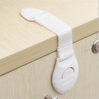 Baby Care Safety Security Plastic Cabinet Lock Straps Child Kids Cabinet Drawer Wardrobe Doors Toilet Safety