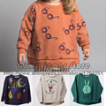 Nueva Cucharas Bobo Choses Gafas Caen 2016 Niños Otoño Invierno Conejo Sudadera Robbit Tops Manga Larga Camiseta de Las Muchachas de Bebé