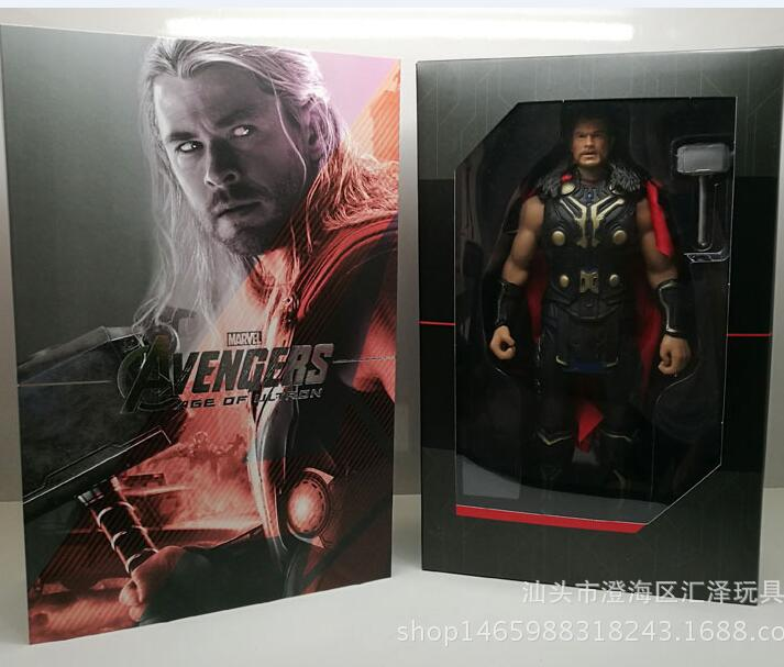 NEW hot 33cm Thor Super hero Avengers action figure toys collector Christmas gift doll with box new hot 24cm super hero steel girl superman action figure toys doll collection christmas gift toy