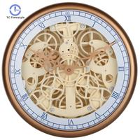 Wall Clock Perspective Mechanical Gear Watches Retro Bedside Personality Wall Clocks Modern Design Home Decor