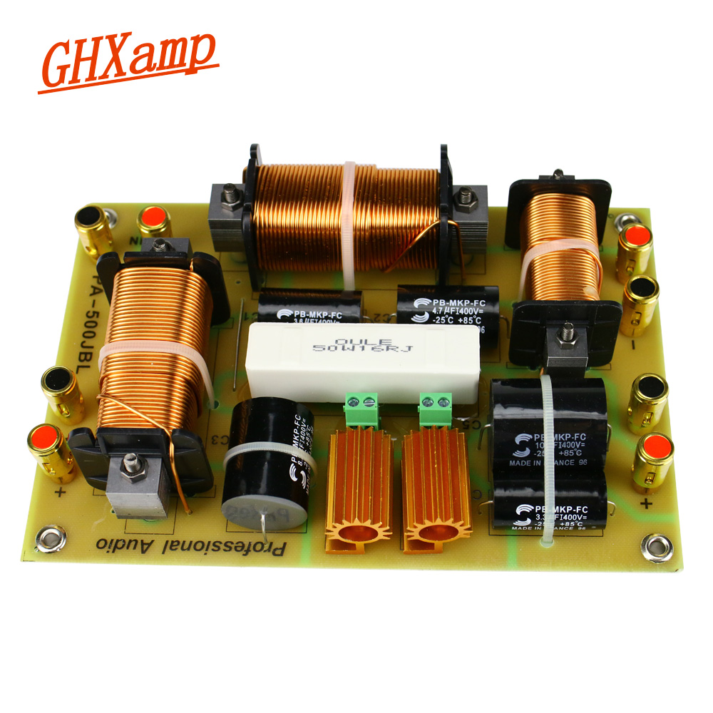 GHXAMP 2 Way Crossover 1500W Treble Dual Woofer Speaker Crossover 2500Hz High Power For 15 18