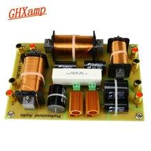 Ghxamp 2 ウェイクロスオーバー 1500 ワット高音 + デュアルウーファースピーカークロスオーバー 2500 60hz のハイパワーのための 15 18 インチステージプロオーディオ 1 pc