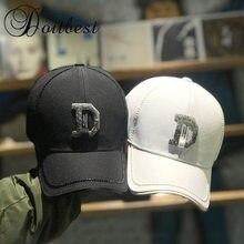2018 Korean Women Rhinestone D letter Baseball Cap men s Summer Sun Hat big  Boys Girls snapback Caps suit for Teens Lovers 9a9ef05030