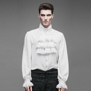 Image 2 - แฟชั่น Punk New Gothic PARTY Steampunk Black TOP Evening เสื้อ Retro Palace บุคลิกภาพสีขาวชายเสื้อลำลองเสื้อ
