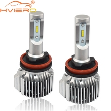 Hviero Super Bright Car Head lights H4 9003 72W 8000lm Auto Front Bulb Automobile Headlamp 6500K Lighting Fog Lamp