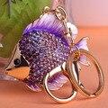Kawaii золото Esmaltes виолетта рыба брелок ключевые кольца для ключей брелки Chaveiro Parfum мужчины ювелирные изделия relógio Feminino великобритании ваз