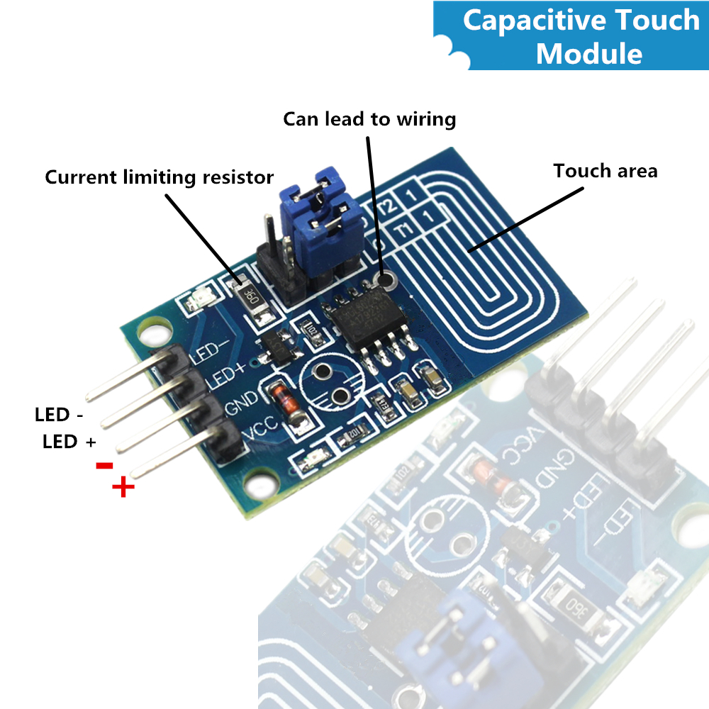 Active Components Energetic 1pcs Led Dimmer Switch Module Capacitive For Touch Dimmer Constant Pressure Stepless Dimming Pwm Control Pane Orders Are Welcome. Integrated Circuits