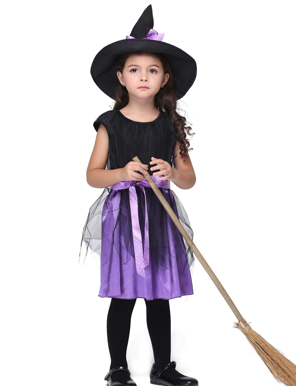 Girls Witch Costume Dress Halloween Costume For Kids Stage u0026 Dance Dress Toddler Short Sleeve Skirt Party Cosplay Purple -in Girls Costumes from Novelty ...  sc 1 st  AliExpress.com & Girls Witch Costume Dress Halloween Costume For Kids Stage u0026 Dance ...