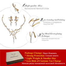 Hottest Viennois Gold Plated Earrings Statement Cross Necklace for Women Jewelry Sets