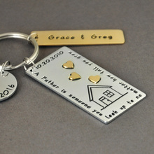 Personalized Keychain For Dad Fathers Day Gift