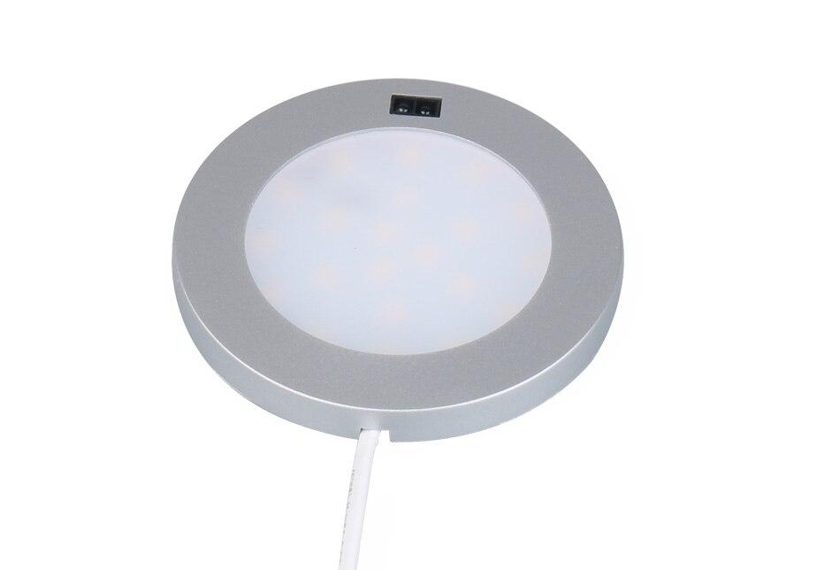 LED Under Cabinet Lights Motion Sensor Round Kitchen Cupboard Lighting Exhibition Bookshelf Furniture Night Light Counter Lamps3